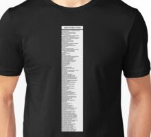 Library Sign - Dewey Decimal System by Tens -  Titled White Unisex T-Shirt