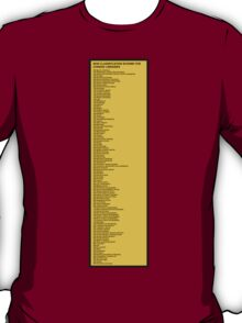Library Sign - New Classification Scheme for Chinese Libraries T-Shirt