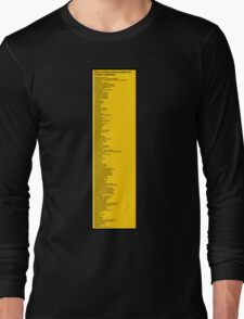 Library Sign - New Classification Scheme for Chinese Libraries Long Sleeve T-Shirt