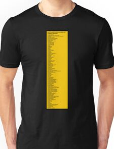 Library Sign - New Classification Scheme for Chinese Libraries Unisex T-Shirt
