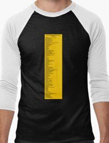 Library Sign - Nippon Decimal Classification System Men's Baseball ¾ T-Shirt