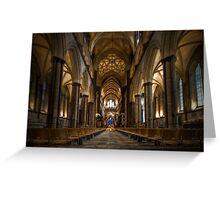 Salibury Cathedral Greeting Card