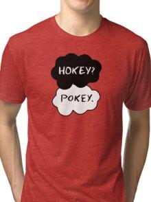 Hokey?  Pokey. Clouds Tri-blend T-Shirt