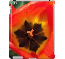 Anatomy of a Tulip: Orange Squared iPad Case/Skin