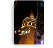 Istanbul by Night Canvas Print