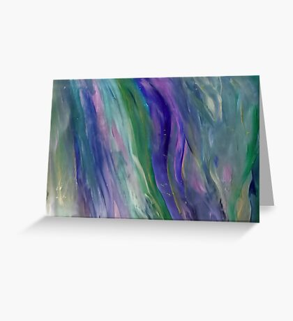 Metallic Streaks Greeting Card