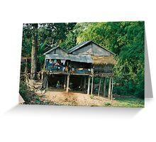 Country House - Cambodian style Greeting Card