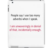 Adverbs 2 - black and red iPad Case/Skin