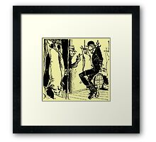 Meat Brawl Framed Print