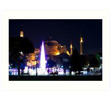 Hagia Sophia by Night Art Print