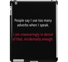 Adverbs 2 - white and red iPad Case/Skin