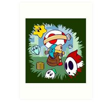 Treasure Tracked: Captain Toad's Fortune (Alt Version. No text) Art Print
