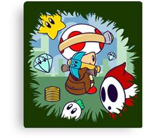 Treasure Tracked: Captain Toad's Fortune (Alt Version. No text) Canvas Print