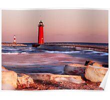 Lake Michigan in Winter Poster