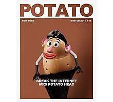 Mrs Potato break the internet Photographic Print