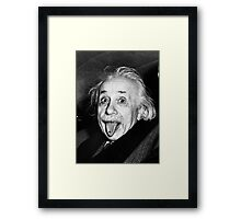 Einstein Tongue Ring Framed Print