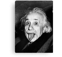 Einstein Tongue Ring Canvas Print