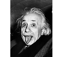 Einstein Tongue Ring Photographic Print