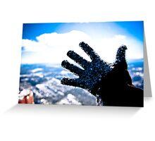 Freezing Hand Greeting Card