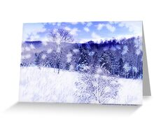 Walking In A Winter Wonderland Greeting Card