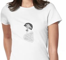 The Grey Girl and the moon Womens Fitted T-Shirt