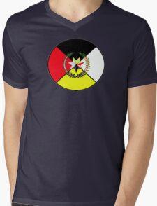 Cherokee Medicine Wheel Mens V-Neck T-Shirt