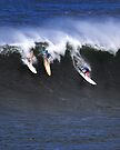Tom Carroll, Buttons Kaluhiokalani, Kelly Slater at Waimea Bay 2011 by Alex Preiss