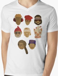 Wes Anderson's Hats Mens V-Neck T-Shirt