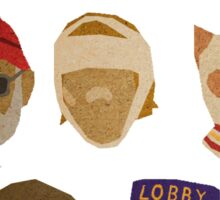 Wes Anderson's Hats Sticker