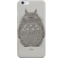 Totoro Illustration iPhone Case/Skin