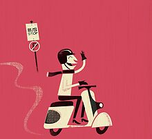 Cooper Rides a Scooter by Ben Sanders