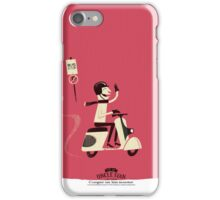 Cooper Rides a Scooter iPhone Case/Skin