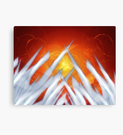 Crystal Eruption Canvas Print