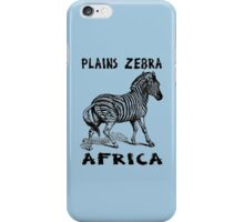PLAINS ZEBRA iPhone Case/Skin