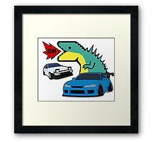 JDM dino & cars Framed Print