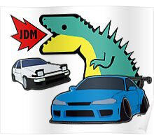 JDM dino & cars Poster