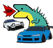 JDM dino & cars Photographic Print
