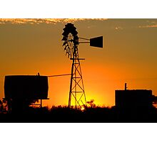 Wilber Sunset Photographic Print