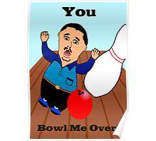 Bowling Valentine Poster