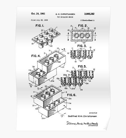 Lego Patent Poster