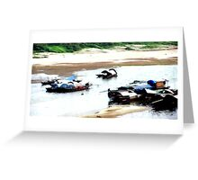 Fishing Boats Hanoi Greeting Card