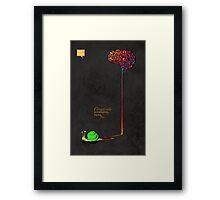 Creativity is intelligence having fun. Framed Print