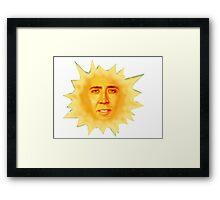 Nicolas Cage Teletubbies Sun Framed Print