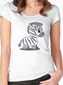 Baby Zebra Women's Fitted Scoop T-Shirt