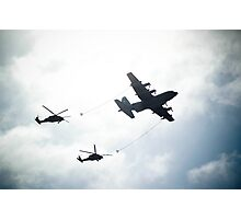 UH-60 refueling exhibition. Photographic Print