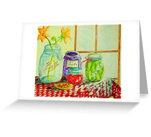 Kitchen Light Dancing Greeting Card