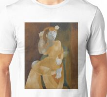 Young Woman in an Armchair Unisex T-Shirt