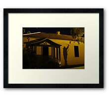 Charging the Fort Framed Print