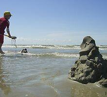 Beach Boy In Action by Heide  Lorek