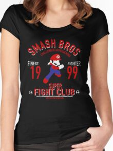 Mushroom Kingdome Fighter Women's Fitted Scoop T-Shirt